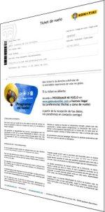 Ticket de vol en globus (PDF per imprimir)