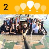 Volarem durant una hora i quart aproximadament amb suaus canvis d'alçada controlats pel pilot, deixant-nos portar per les brises que marcaràn la ruta del globus.