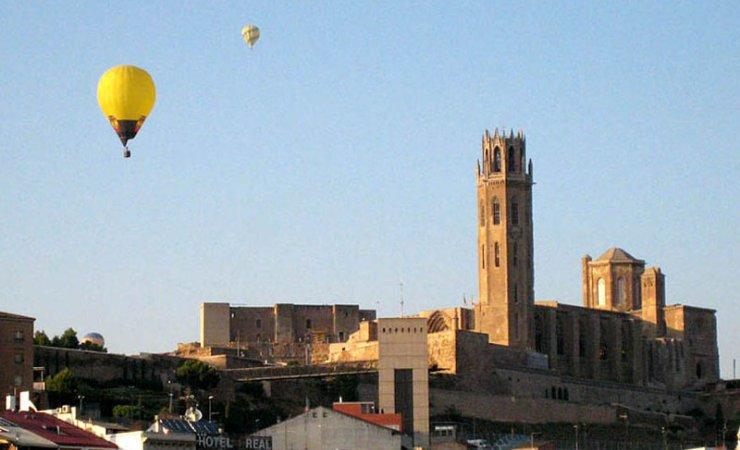 Sobrevolant la ciutat de Lleida