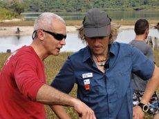 Angel Aguirre amb Jesús Calleja a l'Amazònia