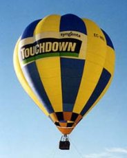Advertising balloon - Touchdown