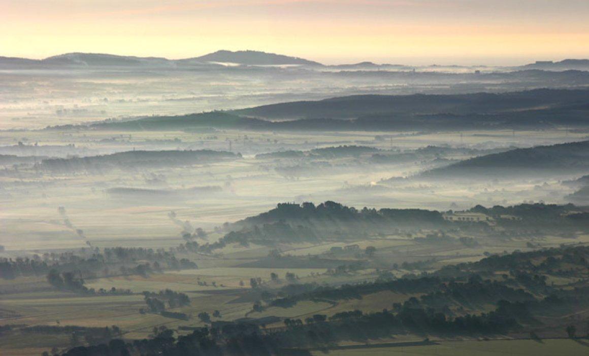 Neblinas en el Baix Empordà