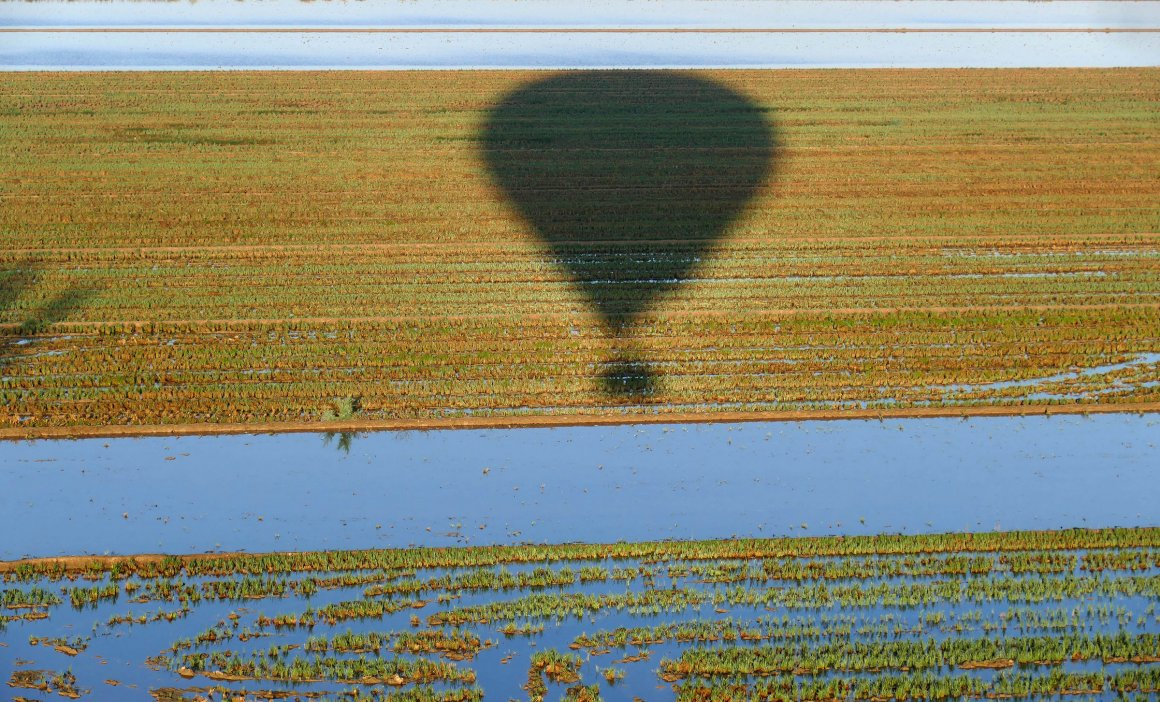 Vol en globus Delta de l'Ebre