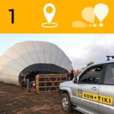 Montaje e hichado del globo, recibirá su welcome pack y participará de la preparación del globo.