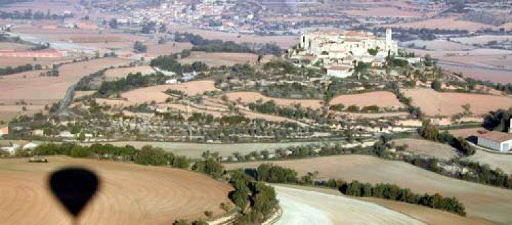 Sobrevolando en globo la comarca de la Segarra (Catalunya) - España