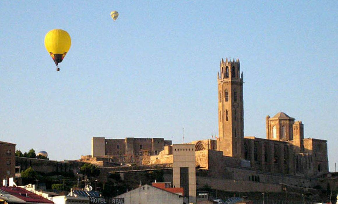 Flying in Lleida