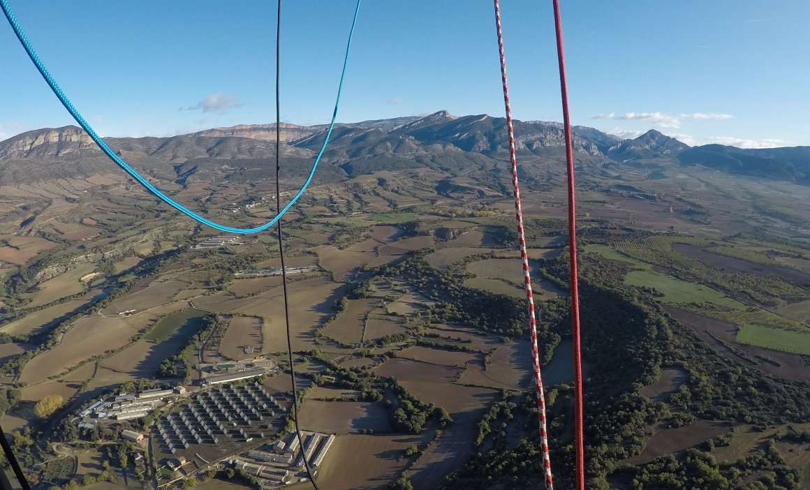 Vol globus Geoparc Mundial Unesco Conca de Tremp-Montsec