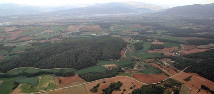 Ballooning over Vallés Oriental (Catalonia) - Spain.